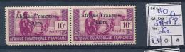 AEF FRANCE LIBRE YVERT 140 X 2 MNH SHORT PERFORATION - A.E.F. (1936-1958)