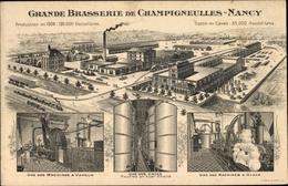 Lithographie Champigneulles Arr. Nancy Lothringen Meurthe Et Moselle, Grande Brasserie - Cartes Postales