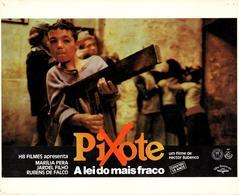 Grande Affichette Cartonnée Promo Du Film Pixote, La Loi Du Plus Faible 1980 - Cinéma - Fernando Ramos Da Silva - Photographie