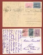 Infla Ab 1 Dez. 1923  Ausland    2 Postkarten - 1918-1945 1. Republik