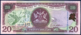 TRINIDAD AND TOBAGO 20 DOLLARS P-49a HUMMING BIRD CENTRAL BANK ERIC WILLIAMS FINANCIAL COMPLEX 2006 UNC - Trinité & Tobago