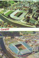 Cardiff Millennium Stadium Arms Park Cartolina Stadio Postcard Stadion AK Carte Postale Stade Estadio - Calcio