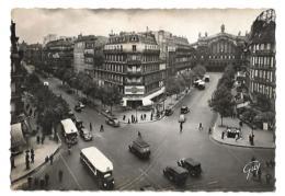 Paris - La Gare Du Nord - Carrefour Denain Magenta - Circulé 1950 - éd. Leconte 7070 GUY - Métro Parisien, Gares