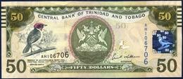 TRINIDAD AND TOBAGO 50 DOLLARS P-50 RED CAPPED CARDINAL BIRD CENTRAL BANK E. WILLIAMS FINCOMPLEX PARLIAMENT 2006 UNC - Trinidad & Tobago