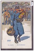LE SOLDAT SUISSE A TRAVERS LES AGES - 1918 - LES EVACUES - PAR ELZINGRE - TB - Suisse