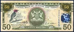 TRINIDAD AND TOBAGO 50 DOLLARS P-53 COMMEMORATIVE 50th ANNIVERSARY OF INDEPENDENCE CARDINAL BIRD  2006 / 2012 UNC - Trinidad & Tobago