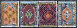 Algerien Algeria 1968 Kunsthandwerk Handicrafts Kultur Culture Teppichknüpfer Teppiche Carpets, Mi. 496-9 ** - Algerien (1962-...)