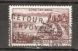 France 1960 - Griffe Retour à L'envoyeur + N° 4509 - YT 1193 - Evian-les-Bains - Marcophilie (Timbres Détachés)