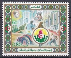 Algerien Algeria 1983 Geschichte History Befreiung FLN Landwirtschaft Industrie Wohungsbau, Mi. 840 ** - Algerien (1962-...)