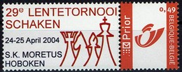Belgie Belgien - MyStamp - Schach Chess - S.K. Moretus 2004 - OBP 3228 - MiNr 3277 - Sellos Privados