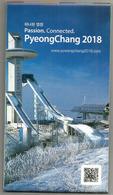 OLYMPIC GAMES PYEONG CHANG 2018. CORÉE.  Carte Détaillée Et Programmes (dépliant) état Neuf - Exploration/Voyages