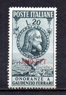 ITALIA TRIESTE 1950 MINT MNH - Nuevos
