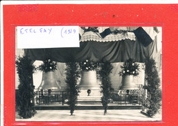 80 ETELFAY Carte Photo Bapteme Des Cloches Photographe M . Dauphin Ballustrades CROIX GAMMEES - France
