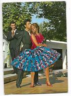 Cpm St004167 , Carte Brodée Espagne Flamenco , Robe Bleue à Paillettes - Cartes Postales
