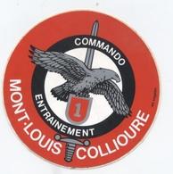 MILITAIRE MONT LOUIS COLLIOURE COMMANDO ENTRAINEMENT    B34 - Autocollants