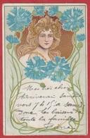 CP - Femme - 1902 - Art Nouveau - Style Alfons Mucha - Brrrrrrrrr - Women