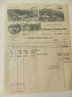 Facture G. Masurel-Leclercq & Fils - Roubaix (59) - Lainages-Draperies - 1930 - Adressée à Paris - Textile & Vestimentaire