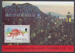 Falkland Islands 1997 Return Of Hong Kong To China M/s ** Mnh (40728) - Falklandeilanden