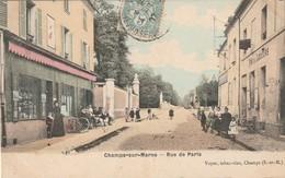 CPA CHAMPS SUR MARNE 77- Rue De Paris - Otros Municipios