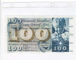 100 Francs Suisse,1970 - Suisse