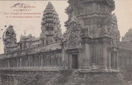 CARTE CAMBODGE. ANGKOR-VAT. TOUR D'ANGLE ET SOUBASSEMENT DE LA 2° GALERIE OUEST - Cambodge