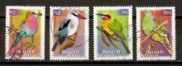 Afrique Du Sud 2000 - Oiseaux - Petit Lot De 4° - Lilac Roller - Woodland Kingfisher - Beeeater - African Green Pigeon - Afrique Du Sud (1961-...)