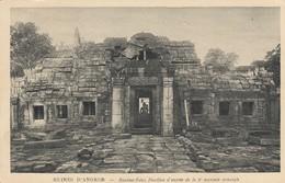CARTE CAMBODGE. ANGKOR-VAT.  BANFEAI-KDEI, PAVILLON D'ENTREE DE LA 2° ENCEINTE ORIENTALE - Cambodge
