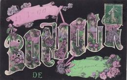 """80. SUZANNE. CPA. RARETE . """" UN BONJOUR DES SUZANNE """" ANNÉE 1919 - France"""