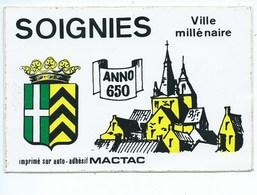 Soignies Ville Millénaire Carte Autocollant - Soignies