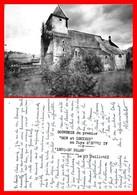 """CPSM/gf  (64) LUCQ-en-BEARN.  L'église. Souvenir Du Premier """"Son Et Lumière""""...H527 - France"""