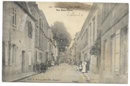 24-LALINDE-Rue Saint-Pierre...  Animé (timbre Enlevé) - France