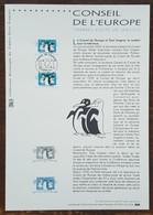 COLLECTION HISTORIQUE - YT Service N°122, 123 - CONSEIL DE L'EUROPE - 2001 - FDC
