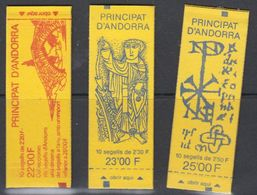 Andorra Fr. 3 Booklets  ** Mnh (40729) - Postzegelboekjes