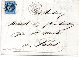 Pas-de-Calais - LAC Affr N° 29B Obl GC 1798 - Càd Type 17 Hesdin (en-tête Touzart) - Marcophilie (Lettres)