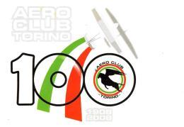 [MD2092] CPM - AERO CLUB TORINO - 100 ANNI 1908/2008 - CON ANNULLO 31.5.2008 - NV - Aerei