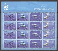 E1272 2006 TUVALU WWF MARINE LIFE PYGMY KILLER WHALE !!! MICHEL 54 EURO !!! 1SH MNH - W.W.F.