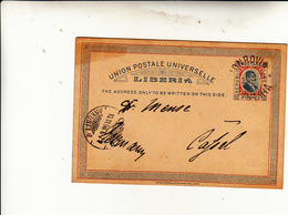 Liberia, Cartolina Intero Postale To Cassel Germany 1898 - Liberia