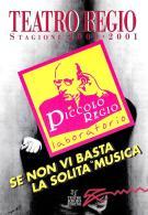 [MD2136] CPM - TEATRO REGIO STAGIONE 2000-2001 TORINO - PICCOLO REGIO - NV - Teatro