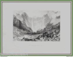 GRAVURE XIXéme Siécle.* LE CIRQUE DE GAVARNIE < HAUTES PYRENEES * Par Thomas ALLOM - Stampe & Incisioni