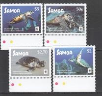 E1282 2016 SAMOA WWF FAUNA REPTILES MARINE LIFE HAWKSBILL TURTLES 1SET MNH - W.W.F.