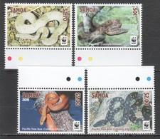 E1283 2015 SAMOA WWF FAUNA REPTILES SNAKES PACIFIC TREE BOA 1SET MNH - W.W.F.