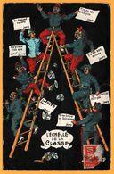Militaire - Militaria - Humour - L'Echelle De La Classe - Nombre De Jours - Animée - 1910 - Humoristiques