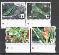 E1285 2016 TONGA WWF FAUNA REPTILES BANDED IGUANA !!! MICHEL 13 EURO !!! 1SET MNH - W.W.F.