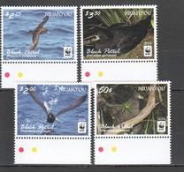 E1286 2016 NIUAFO'OU WWF FAUNA BIRDS BLACK PETREL 1SET MNH - W.W.F.