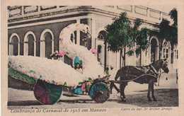 """Postcard Brasil - Manaus """"Carro Alegórico Carnaval De Manaus 1905"""" - Two Imagens - Manaus"""