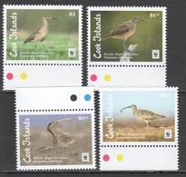 E1288 2017 COOK ISLANDS WWF FAUNA BIRDS BRISTE-THIGHED CURLEW !!! MICHEL 12 EURO !!! 1SET MNH - W.W.F.