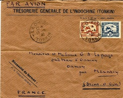 1940- Env. Par Avion Affr. 40 C  Oblit.  LAO-KAY / TONKIN   Pour La France - Indochina (1889-1945)