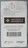Ticket D'entrée Monastère De Batalha Du 29/08/2018 - Tickets D'entrée