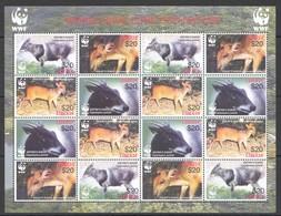 E1290 LIBERIA WWF FAUNA ANIMALS DUIKER 1SH MNH - W.W.F.