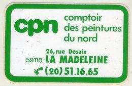 .STICKER .. AUTOCOLLANT . LA MADELEINE . CPN . COMPTOIR DES PEINTURES DU NORD . 26 RUE DESAIX 59110  LA MADELEINE - Stickers